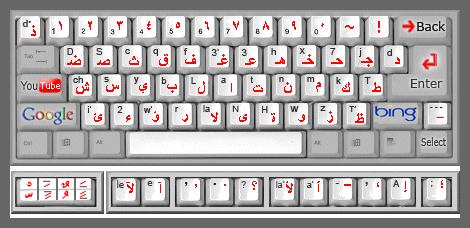 write arabic alphabet keyboard app